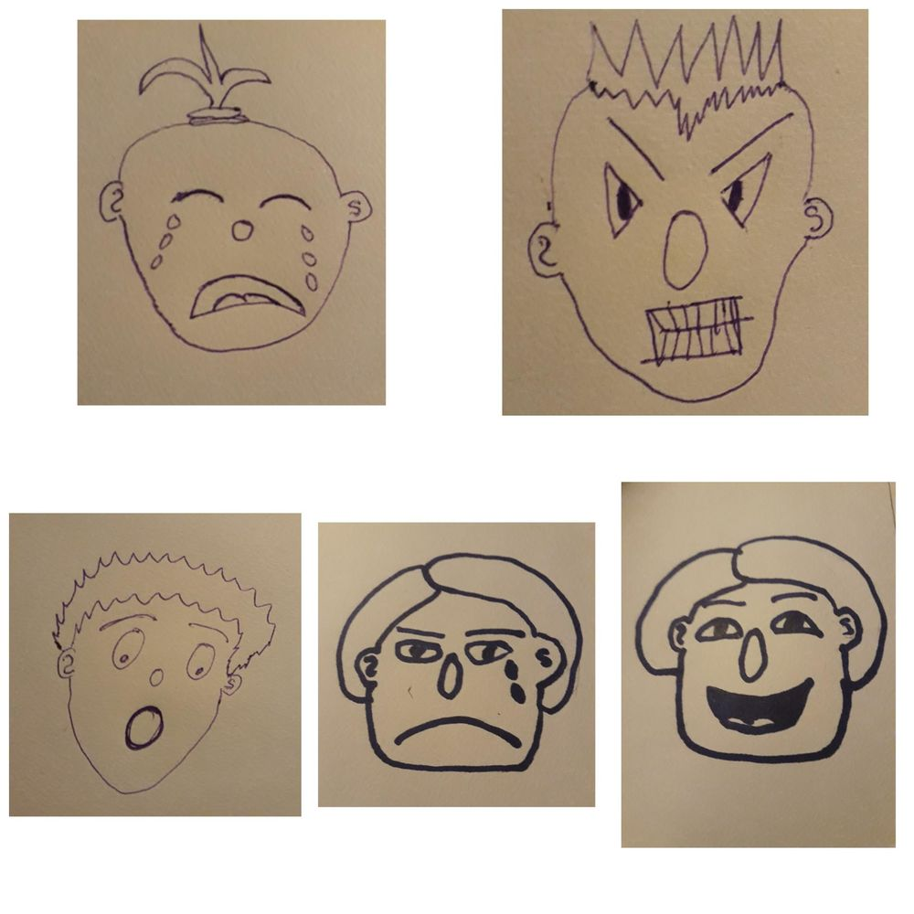 Cartoon faces - image 2 - student project