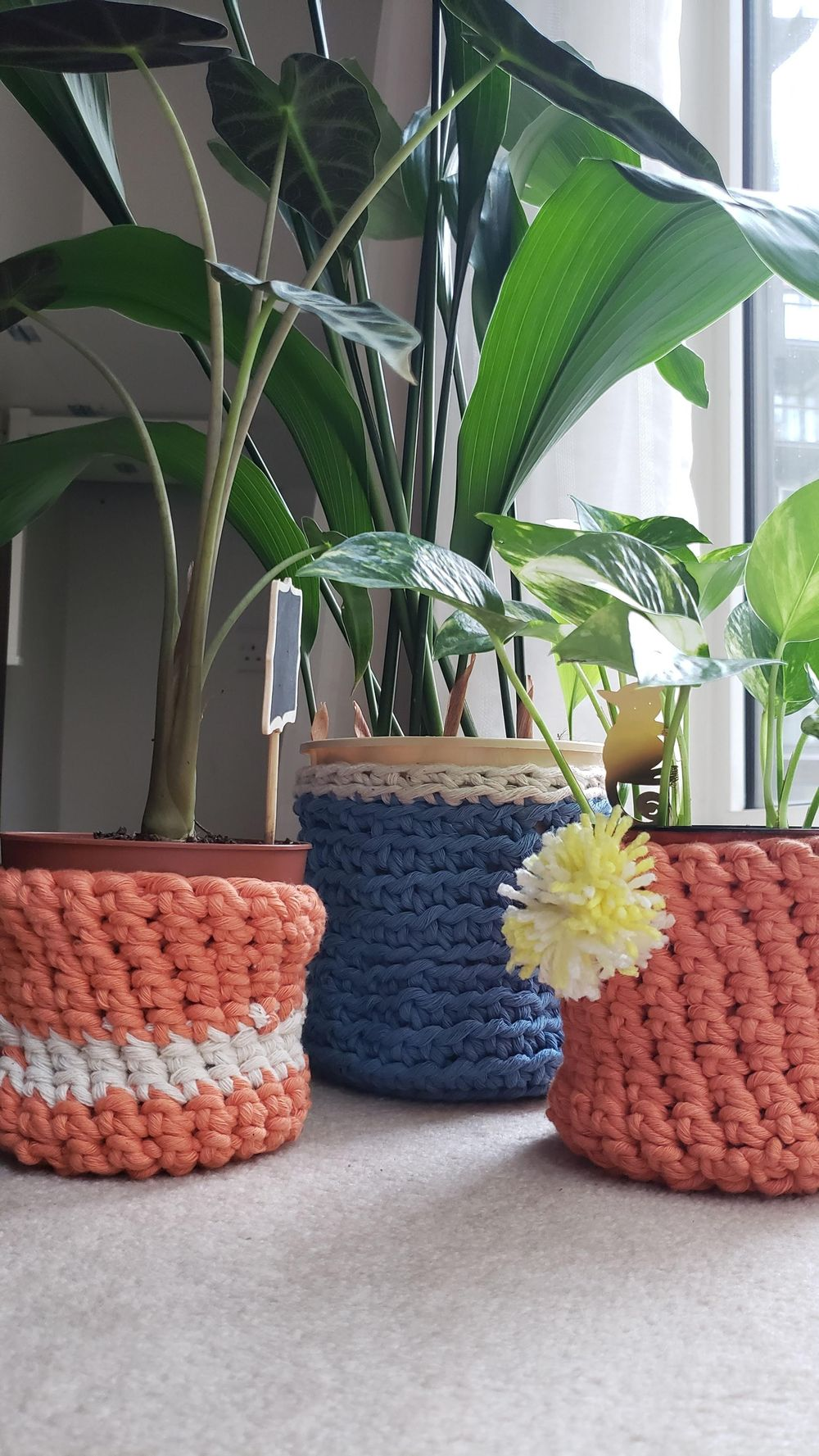 Plant Pot Covers with 5mm Yarn - image 1 - student project