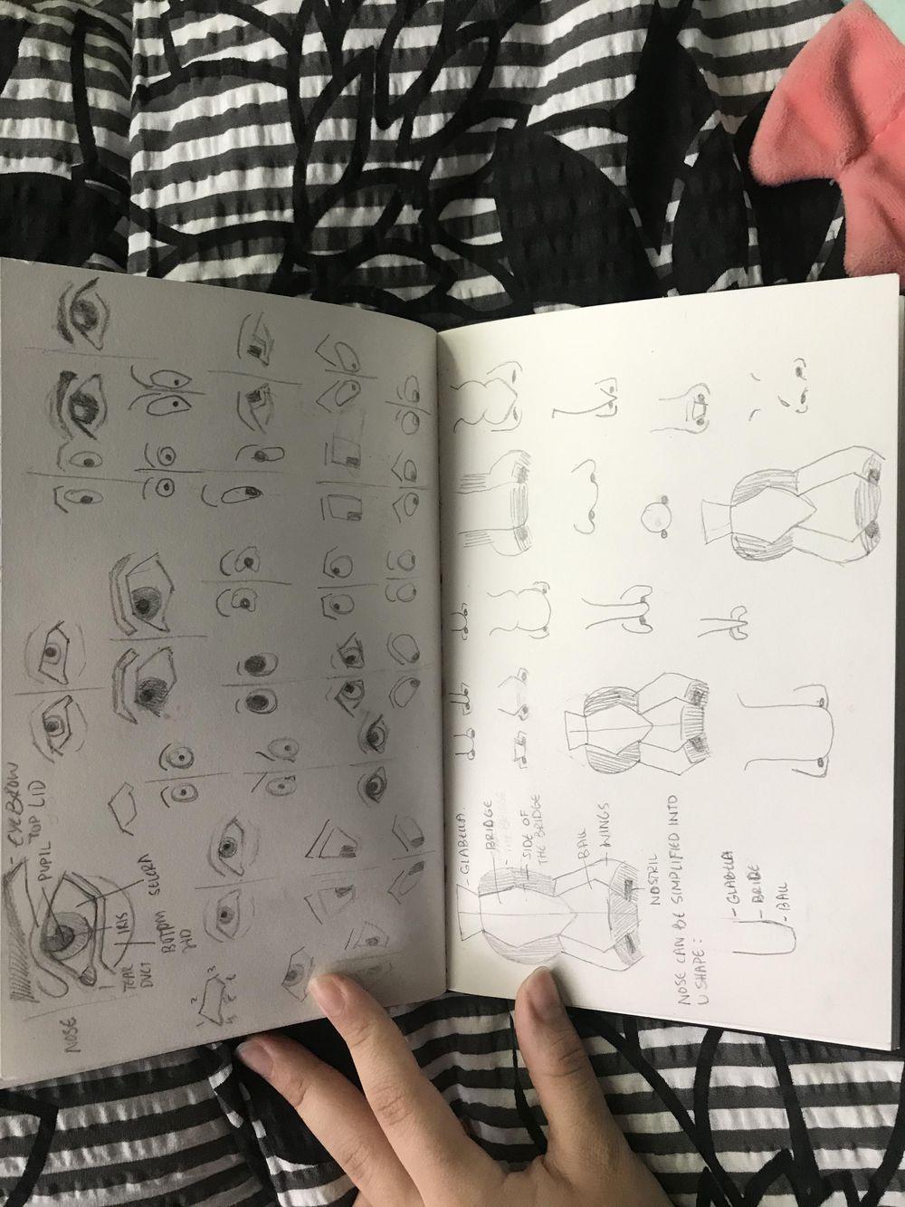 Portrait + sketches! - image 2 - student project