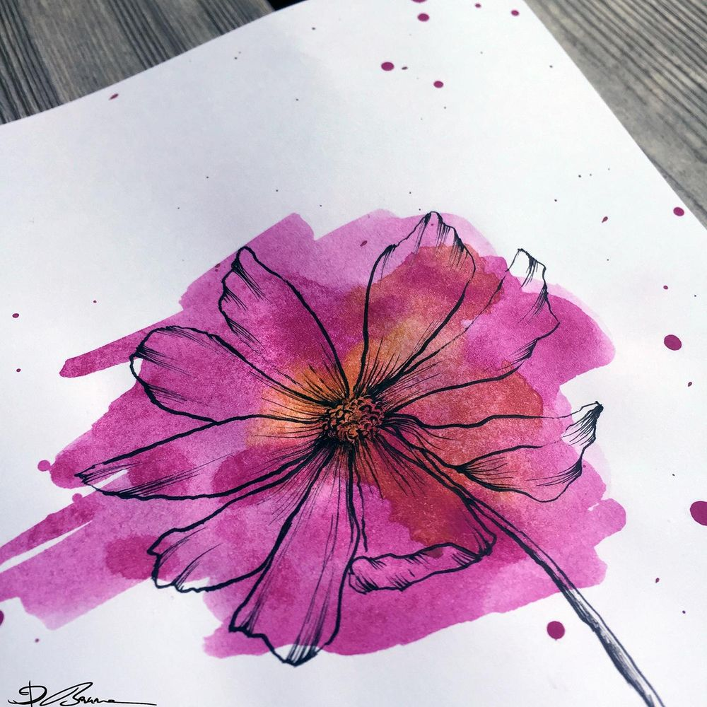 Watercolor Cosmos - image 2 - student project