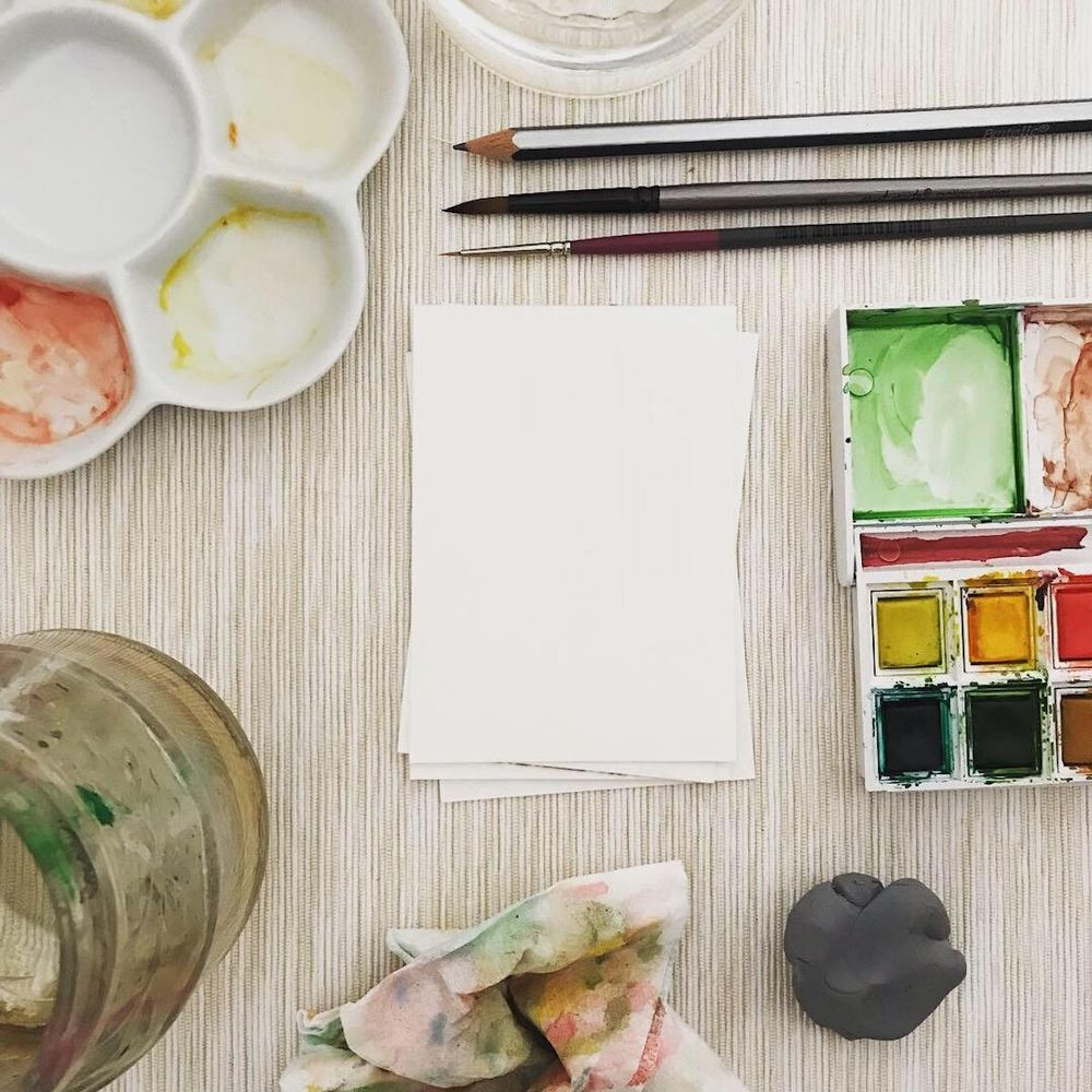 Watercolour painting tools - image 1 - student project