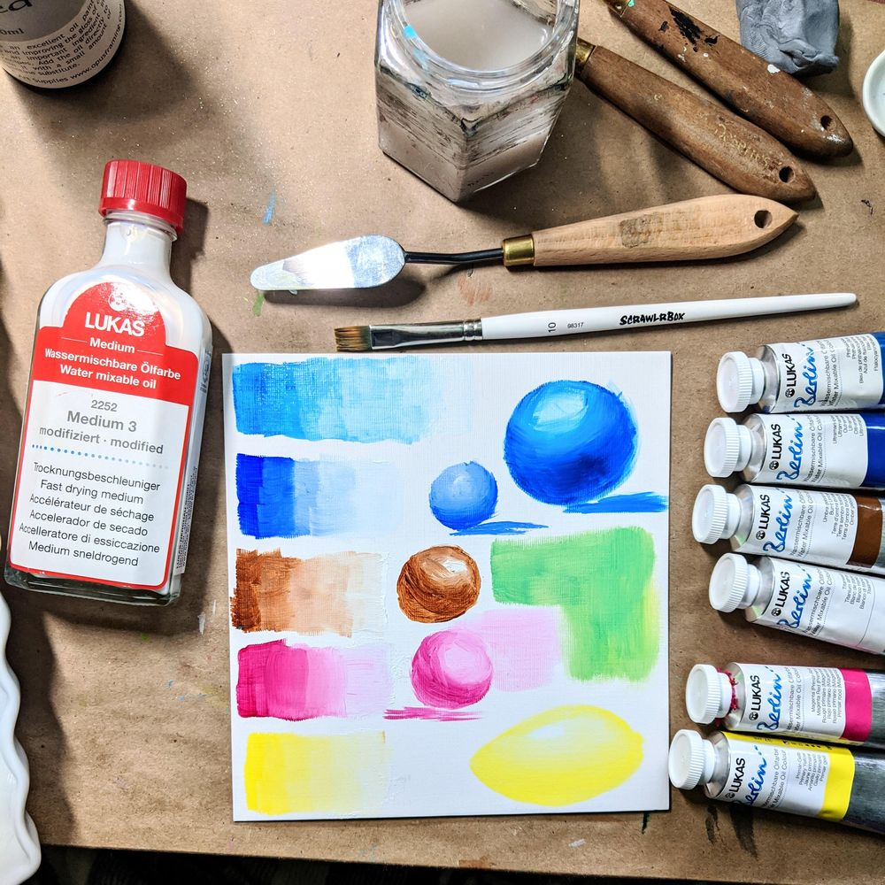 Intro to watersoluable oil. - image 2 - student project