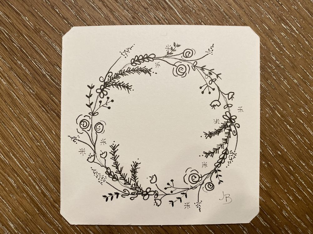 Doodle Wreath - image 1 - student project