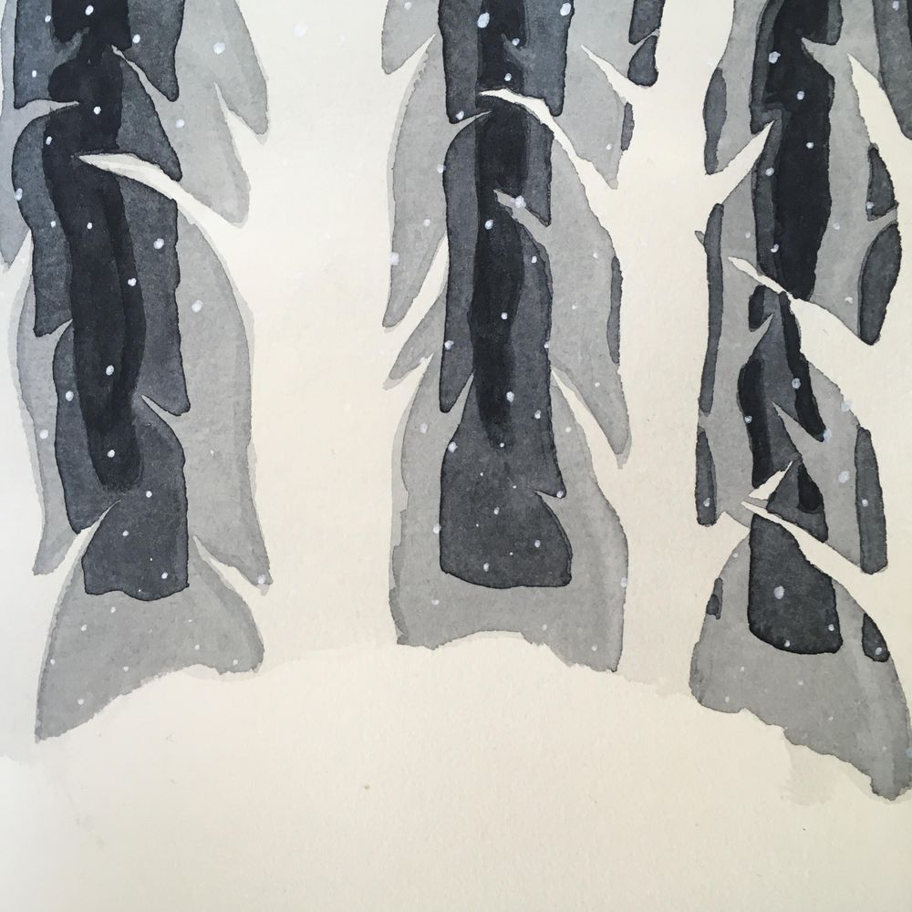 Forest in shades of black - image 1 - student project