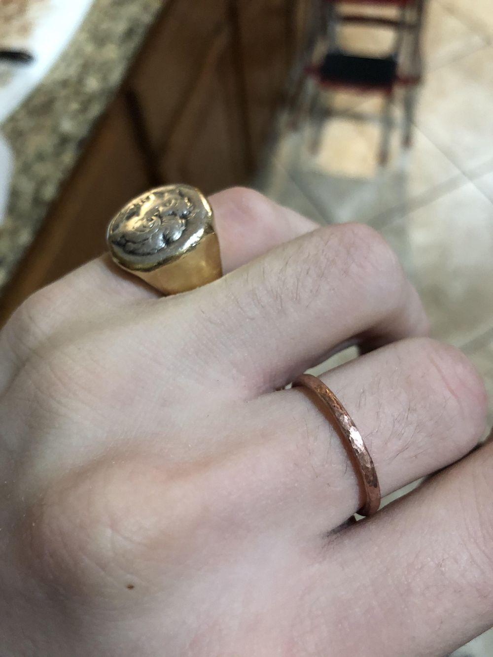 My first ring (copper practice) - image 1 - student project