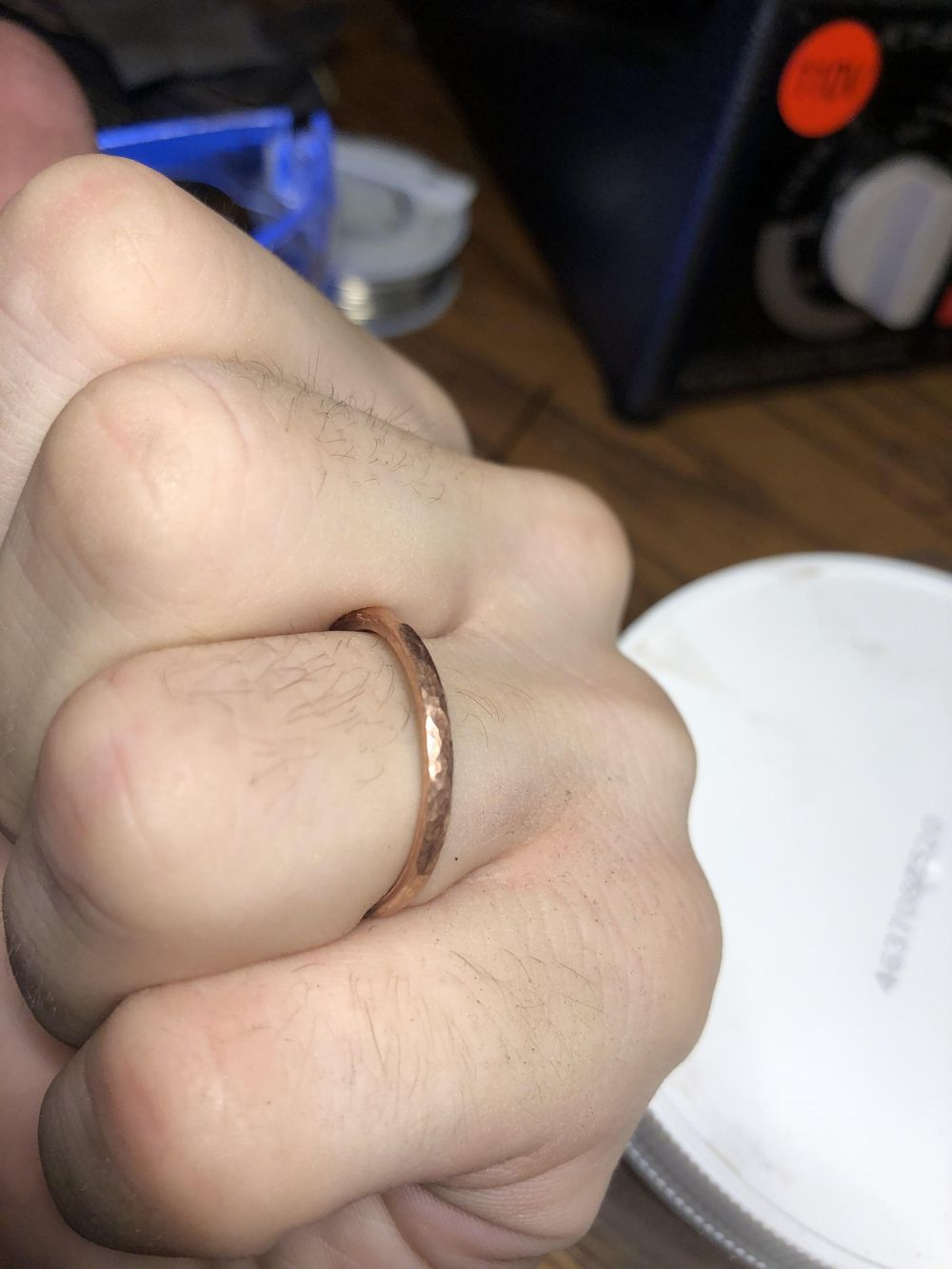 My first ring (copper practice) - image 2 - student project