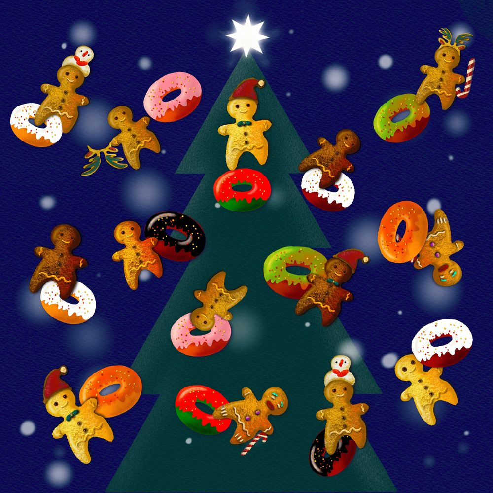 Gingerbread men and their donuts - image 1 - student project