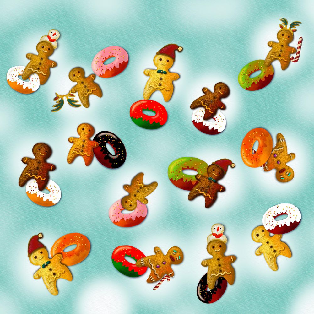 Gingerbread men and their donuts - image 3 - student project