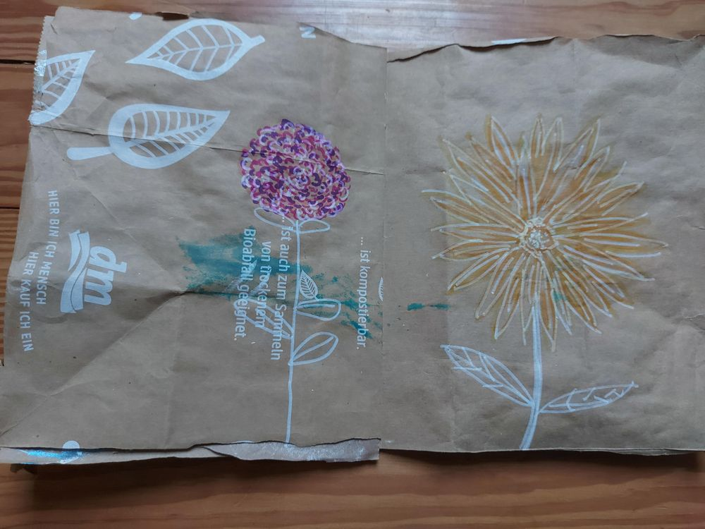 My upcycled paper bag - image 5 - student project