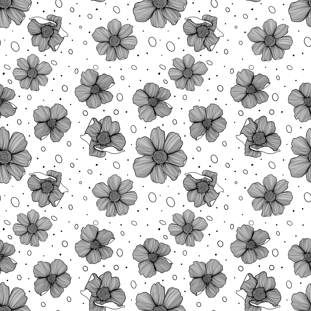 Flower pattern brush - image 3 - student project