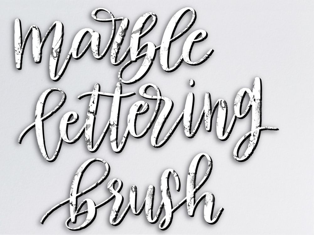Marble Background and Lettering Brush - image 1 - student project