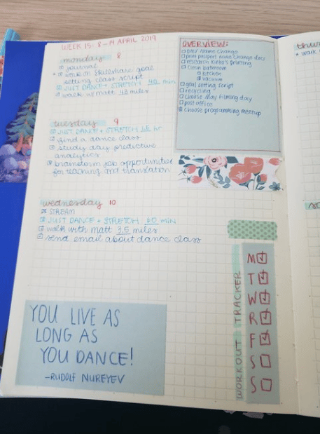 Weekly Spread for April - image 1 - student project