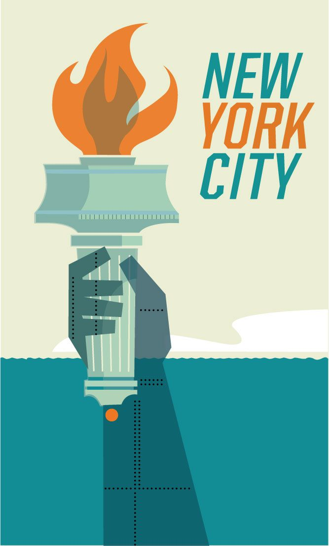 New York Poster - image 1 - student project