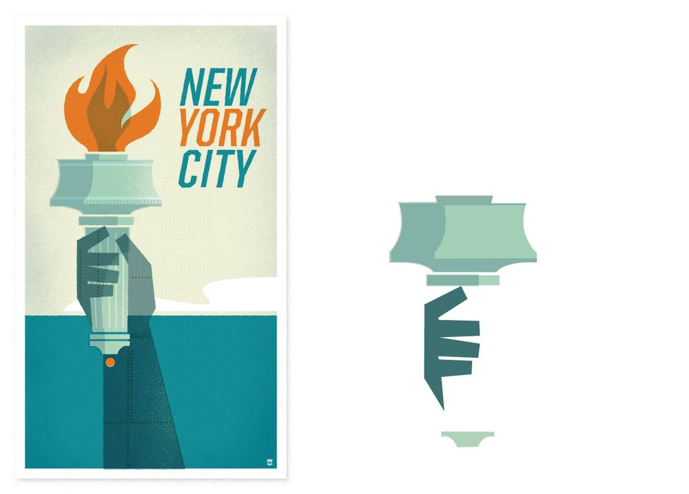 New York Poster - image 5 - student project