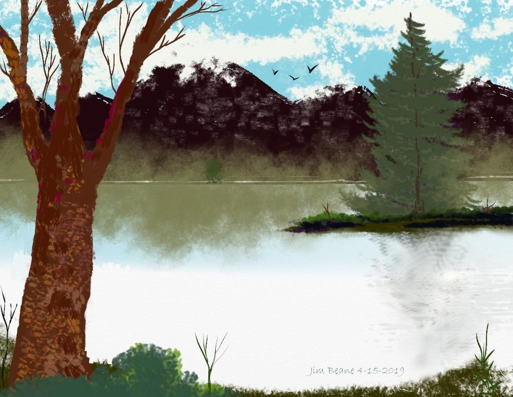 Krita Landscape - image 1 - student project
