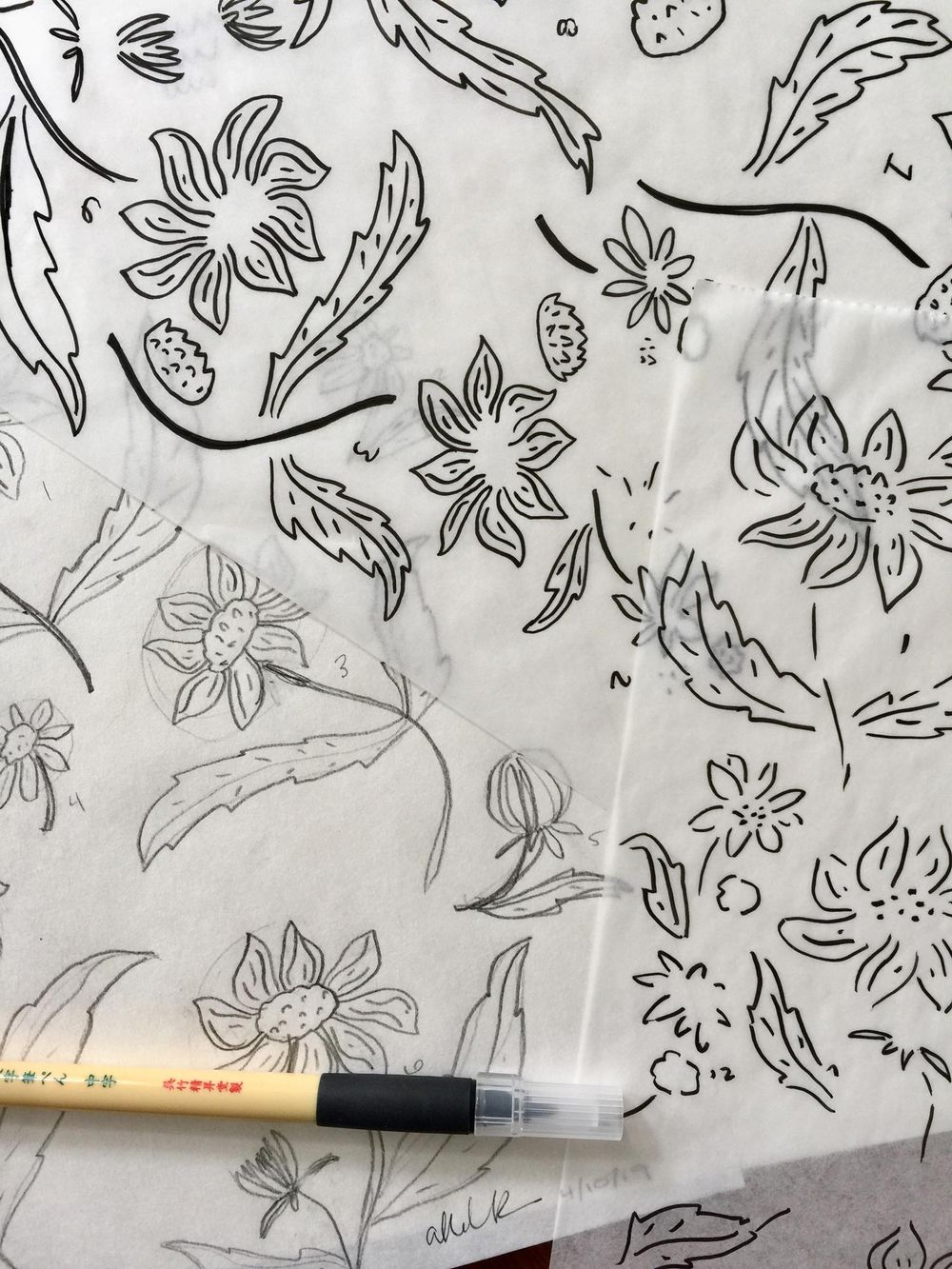 Sketching Flowers - image 1 - student project