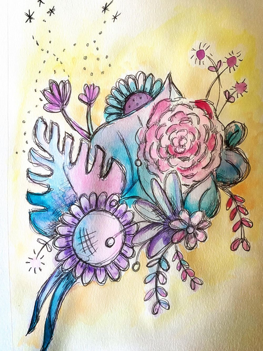 Watercolor Hypnobirthing Affirmations - image 1 - student project