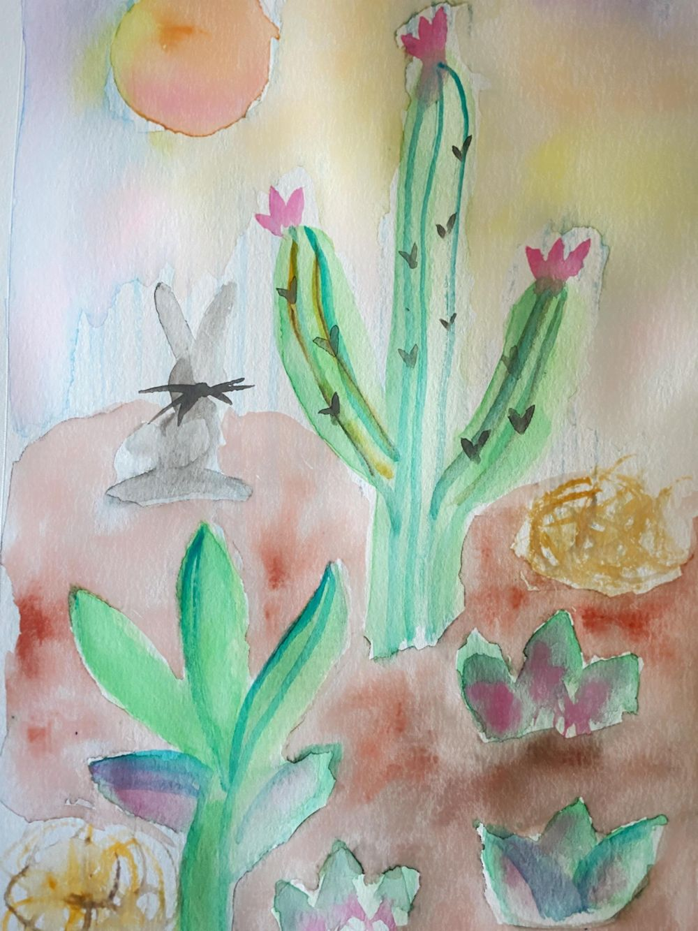 Watercolor Hypnobirthing Affirmations - image 4 - student project