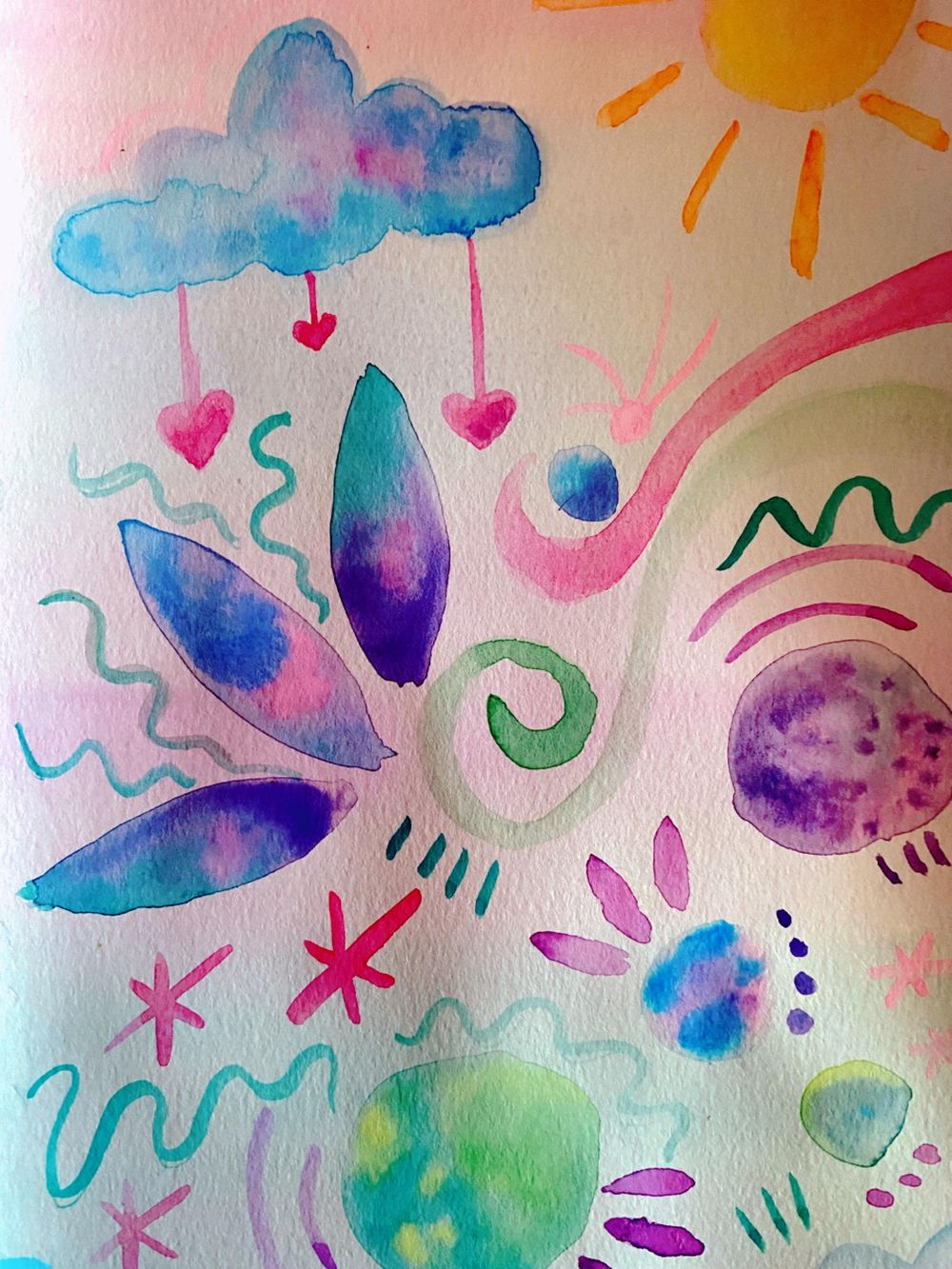 Watercolor Hypnobirthing Affirmations - image 2 - student project