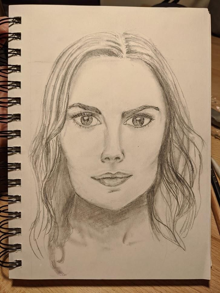 PORTRAIT DRAWING #2: How to transform the draft into a realistic portrait - image 1 - student project