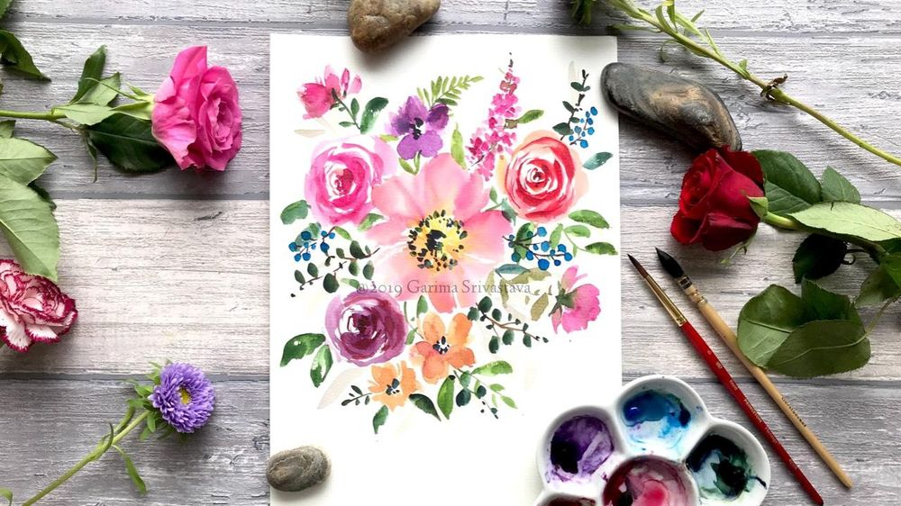 Watercolor Loose Florals: Class Project Sample - image 3 - student project