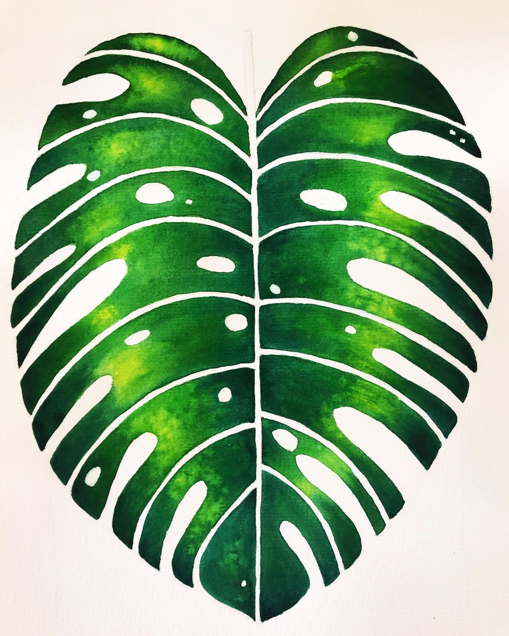 Monstera Leaf Project - image 1 - student project