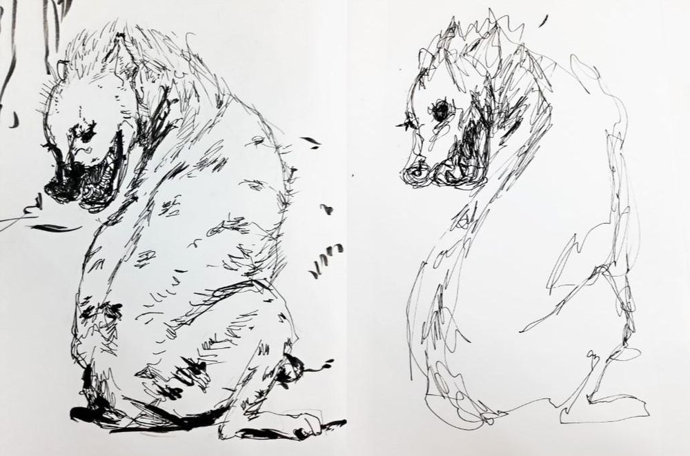 A spotted hyena with Daniel Eugene Style(maybe) - image 1 - student project