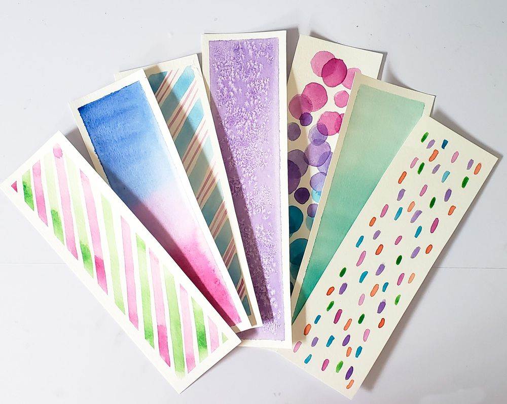 These are my watercolor bookmarks - image 1 - student project