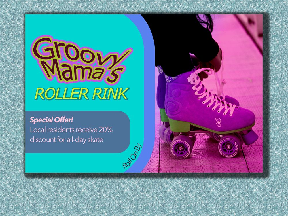 Postcard Design - Groovy Mama's - image 1 - student project