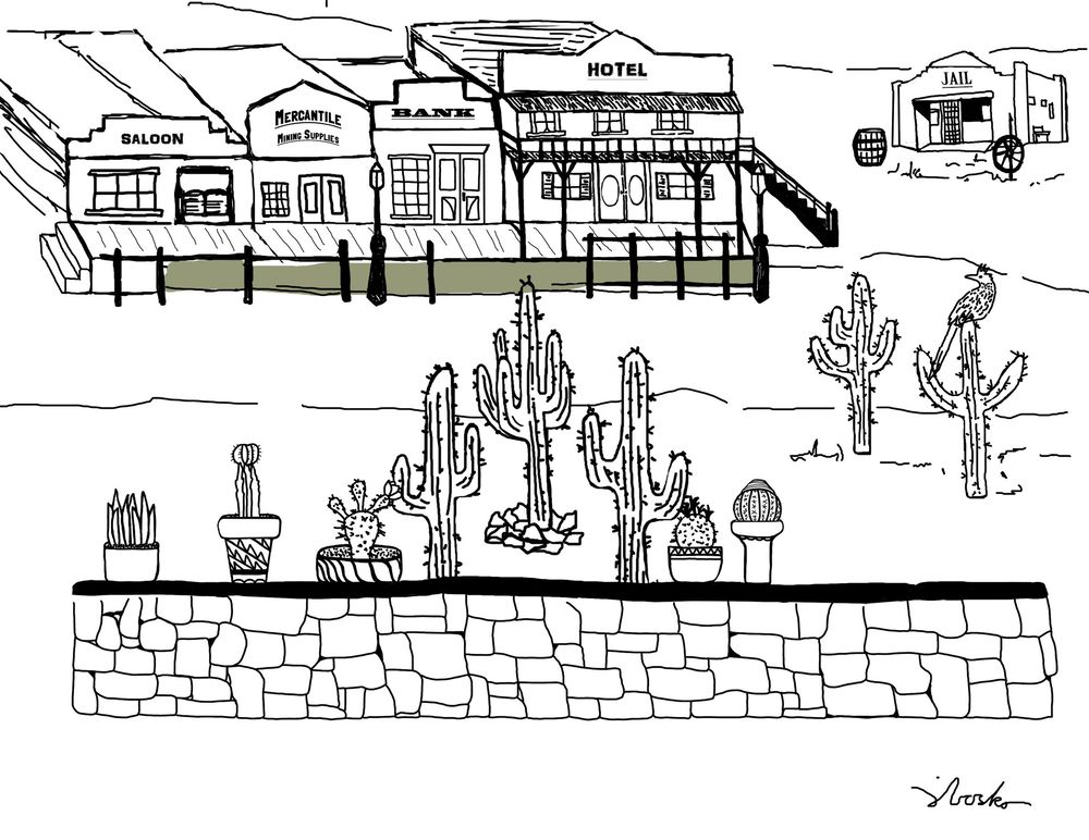Wild West Cactus Town - image 3 - student project