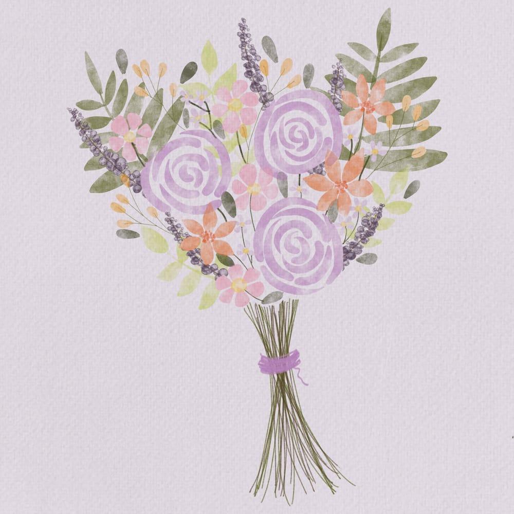 Floral Watercolor Bouquet - image 1 - student project