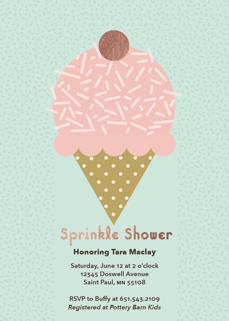 Trendy Pattern Baby Shower Invites for Minted Design Challenge - image 2 - student project
