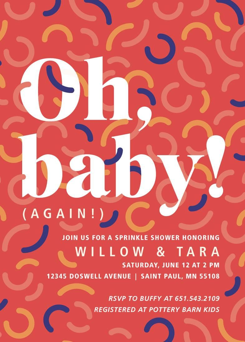 Trendy Pattern Baby Shower Invites for Minted Design Challenge - image 1 - student project