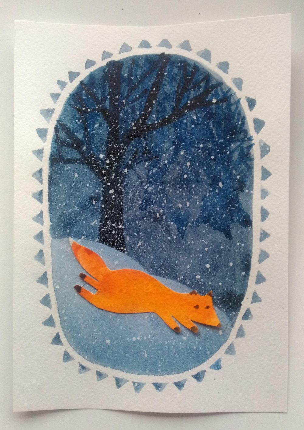 Watercolor Winter Illustrations - image 1 - student project