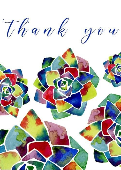 succulent thank-you card - image 1 - student project