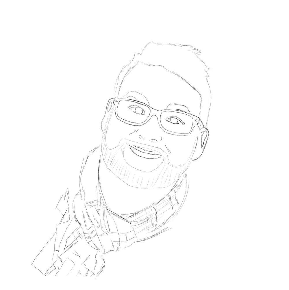 Self portrait in Procrate - image 3 - student project