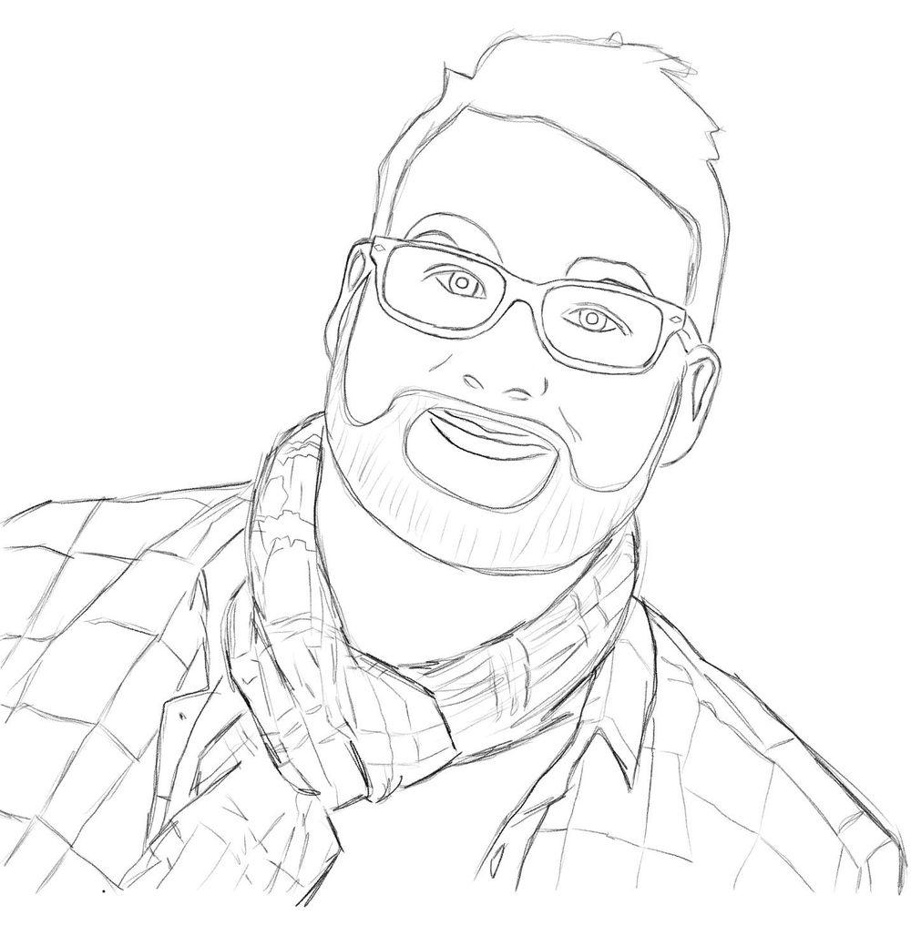 Self portrait in Procrate - image 4 - student project