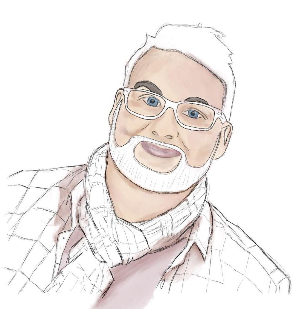 Self portrait in Procrate - image 6 - student project