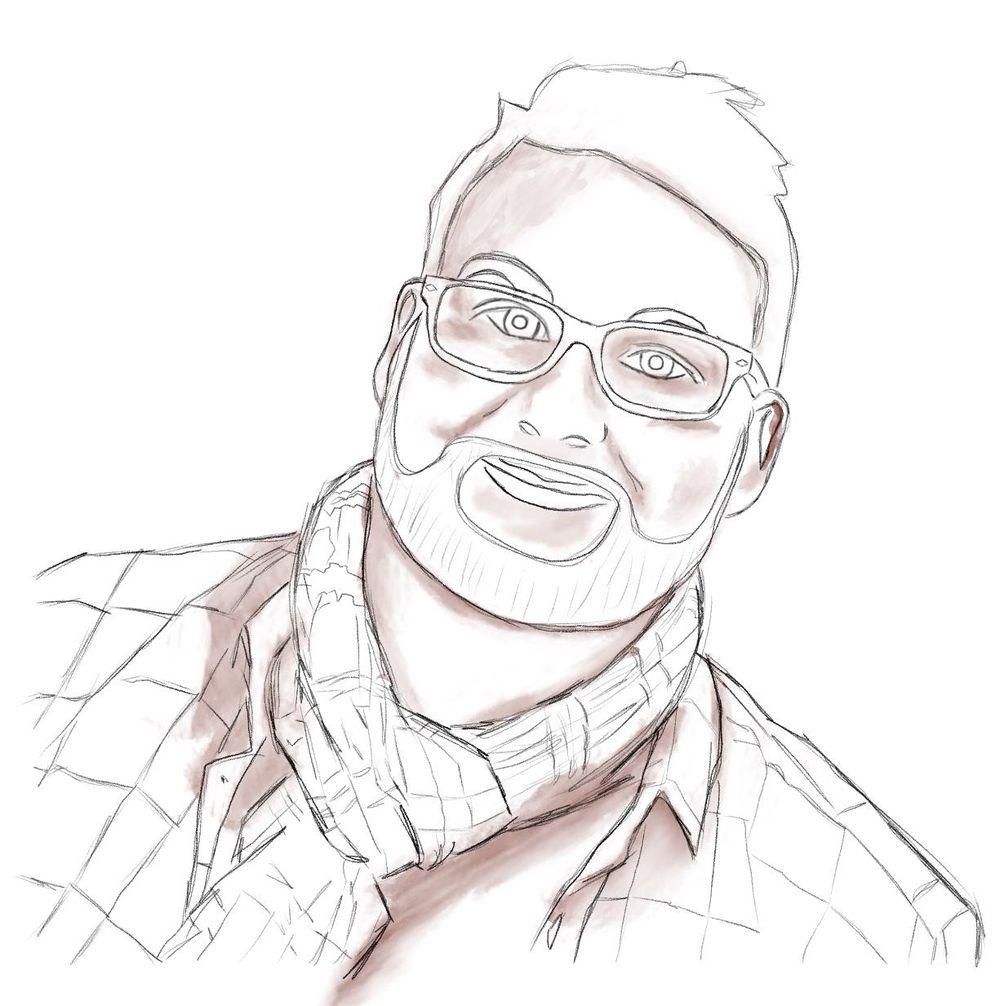 Self portrait in Procrate - image 5 - student project