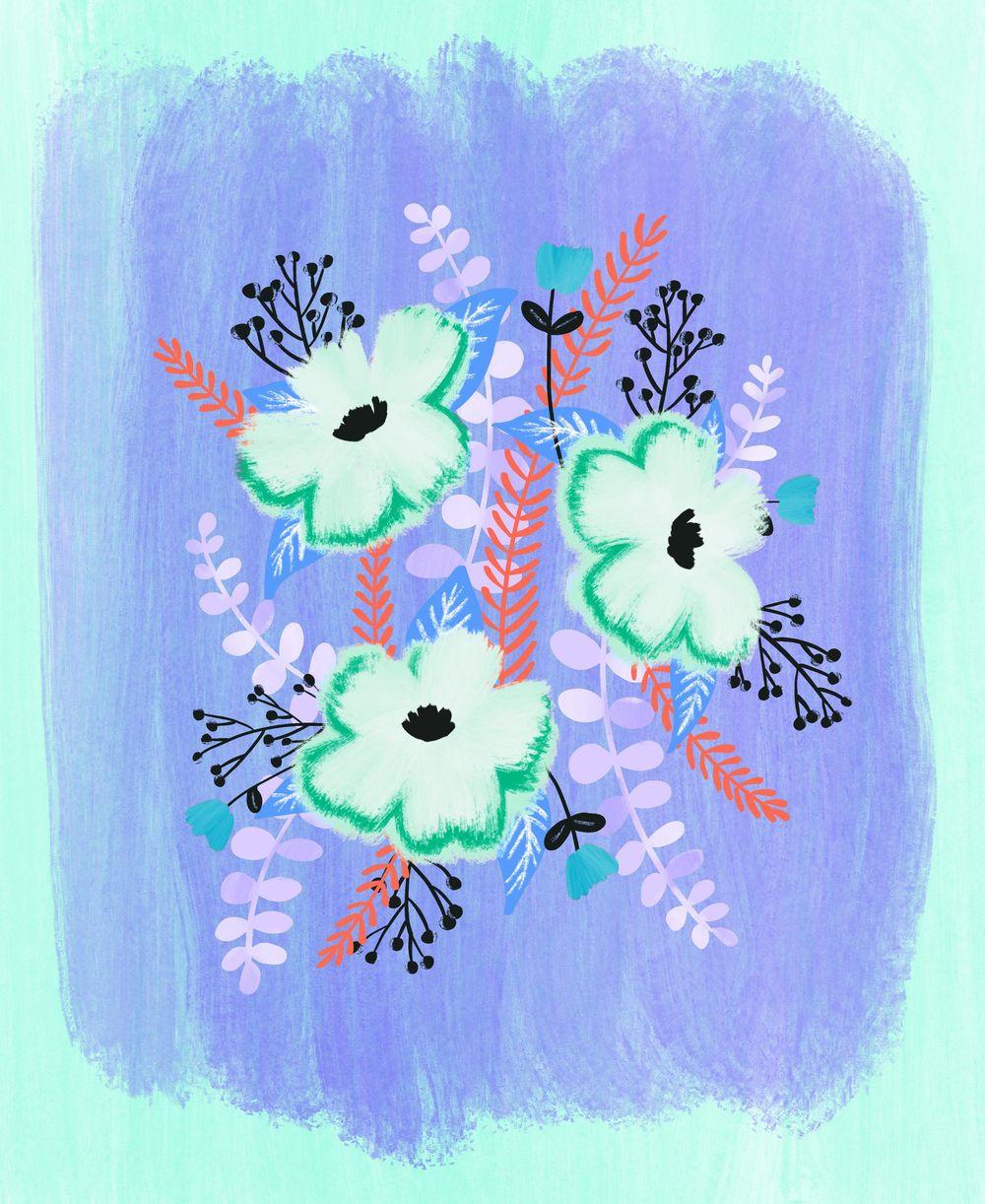 Gouache Florals - image 4 - student project