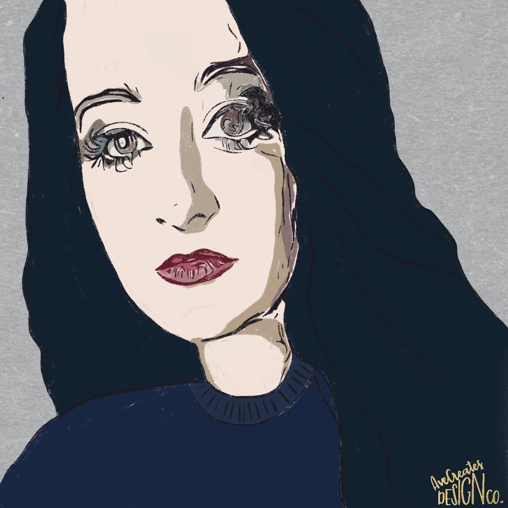 Pastel Self Portrait - image 1 - student project