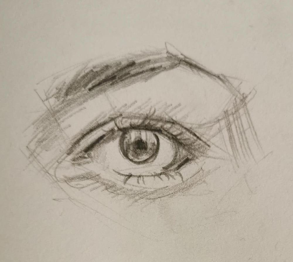 Gouache eye study - image 1 - student project