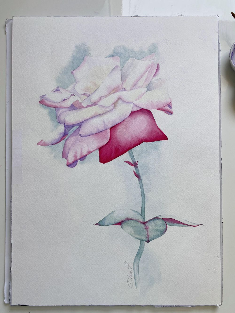 Watercolor Rose Ana T - image 1 - student project