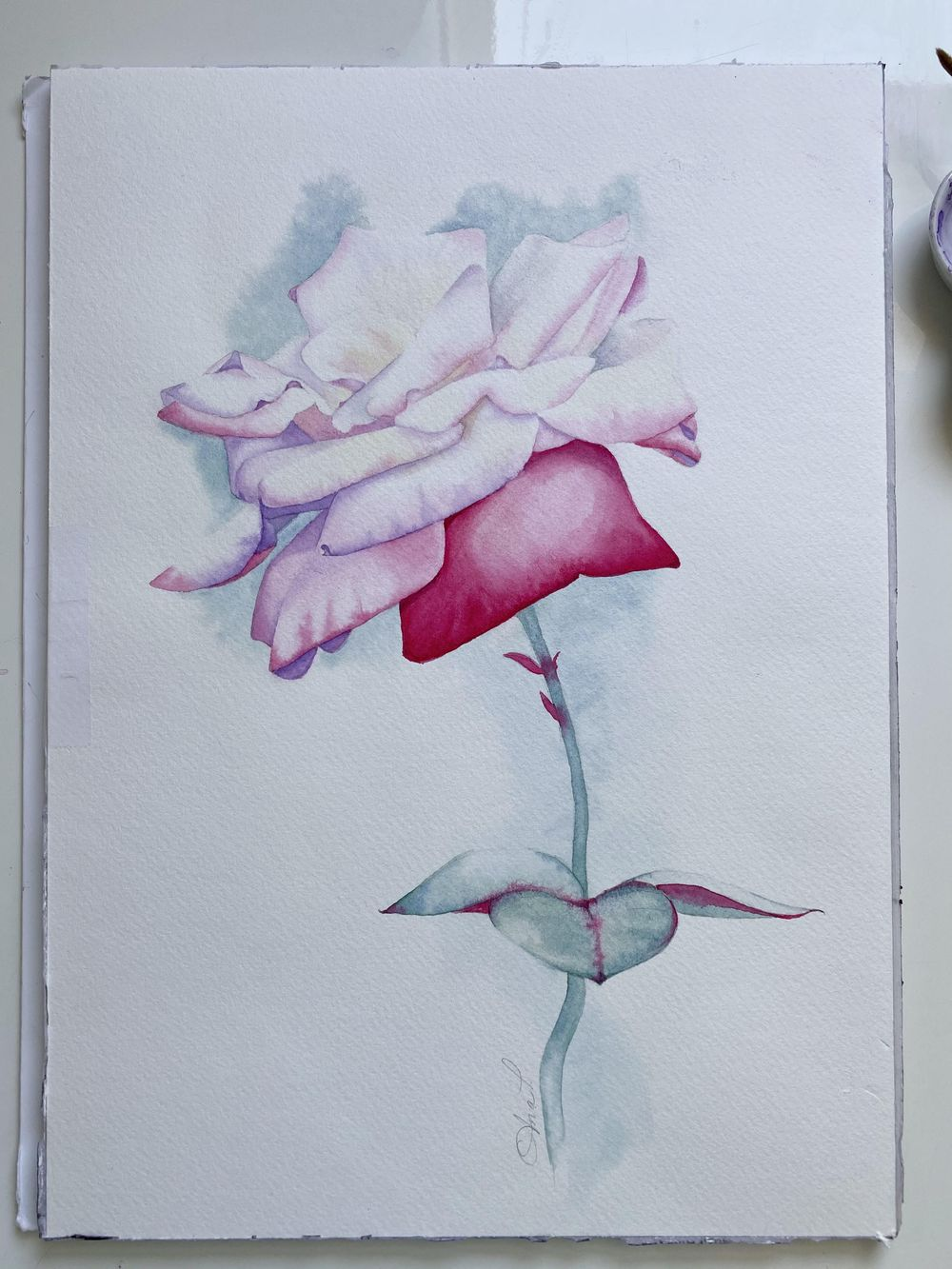 Watercolor Rose Ana T - image 3 - student project