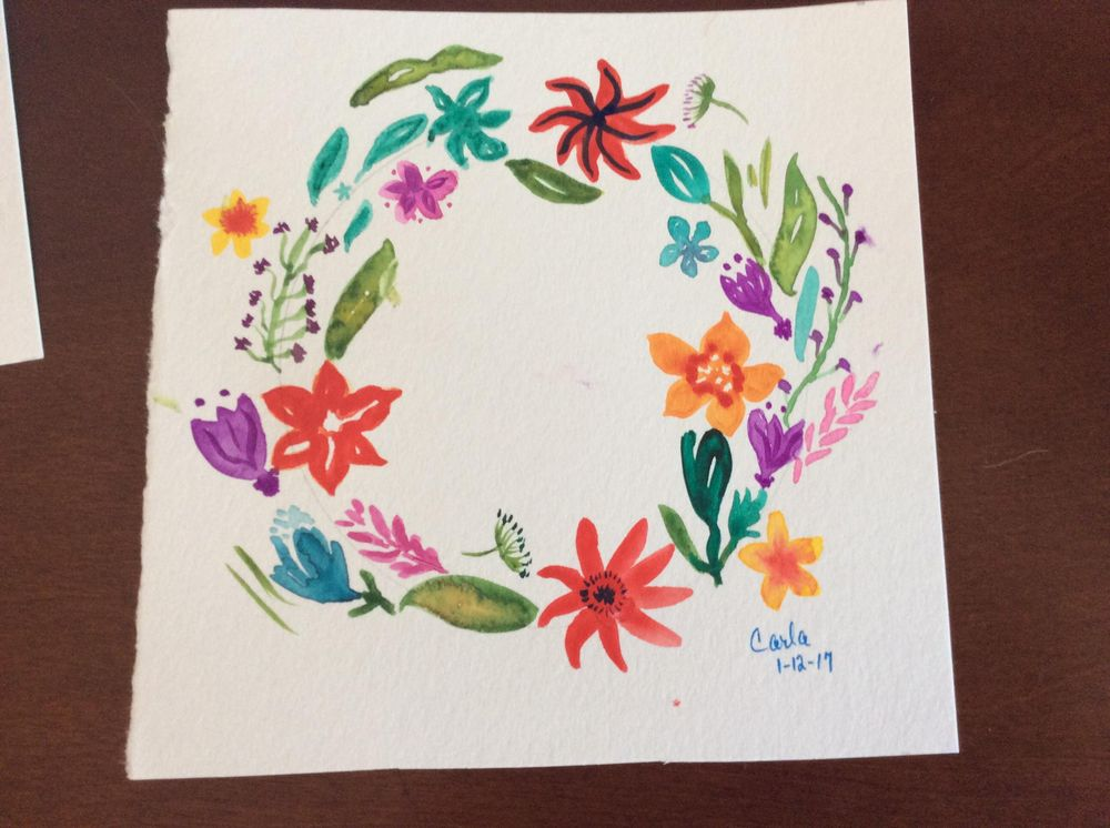 2nd more colorful wreath:) - image 1 - student project