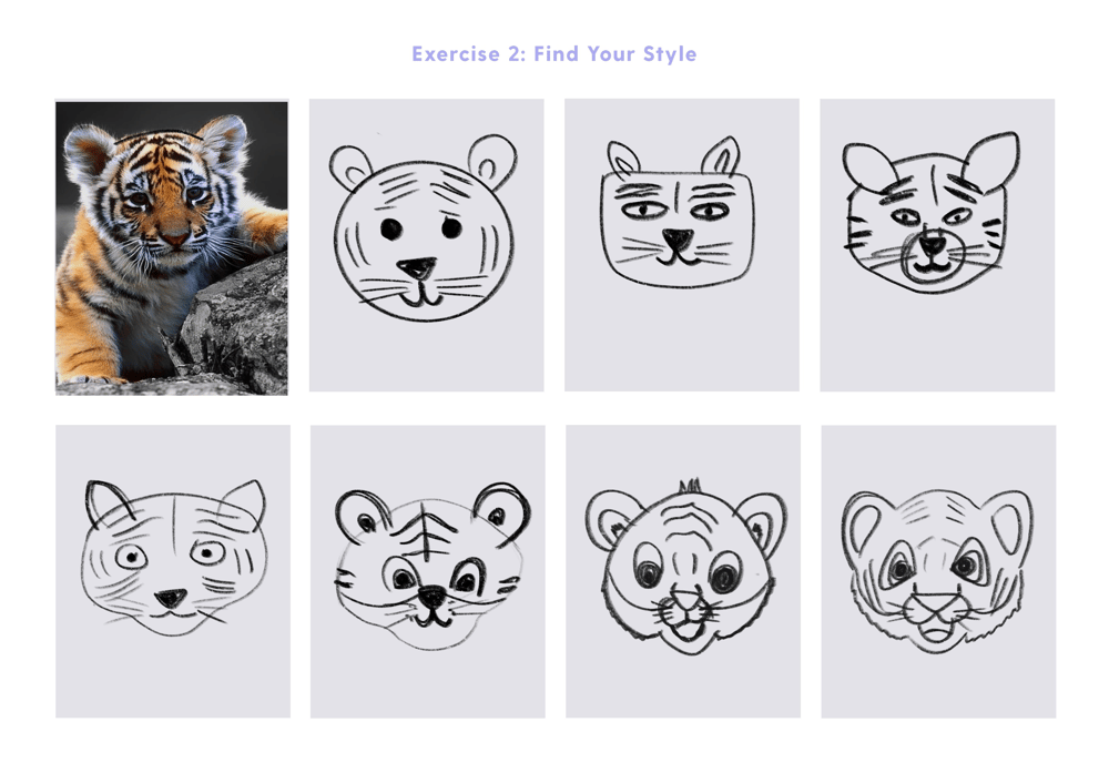 Fun with symmetry - Nature + Tiger head - image 3 - student project