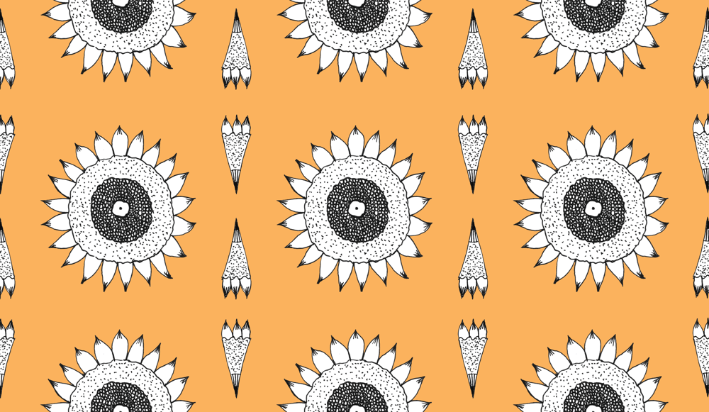 Sunflower Pattern Series - image 1 - student project