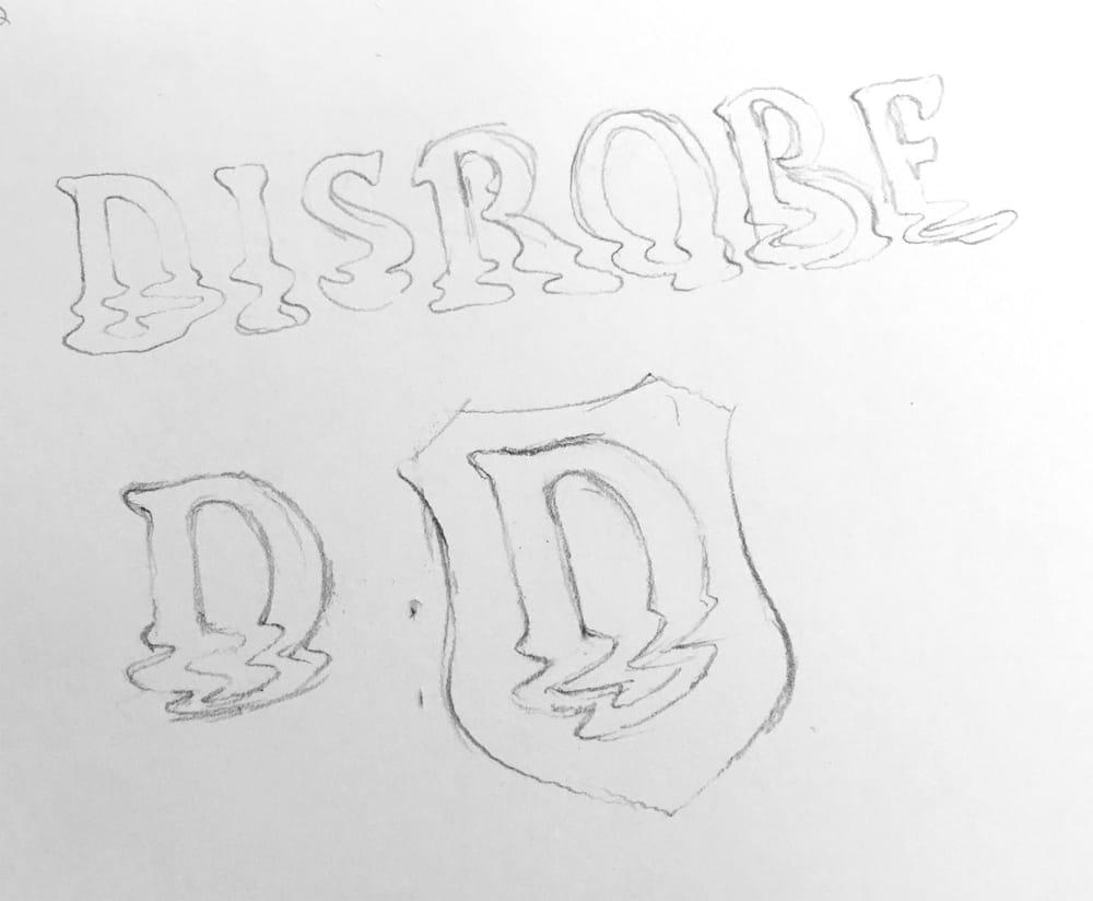 Disrobe Logotype - image 1 - student project