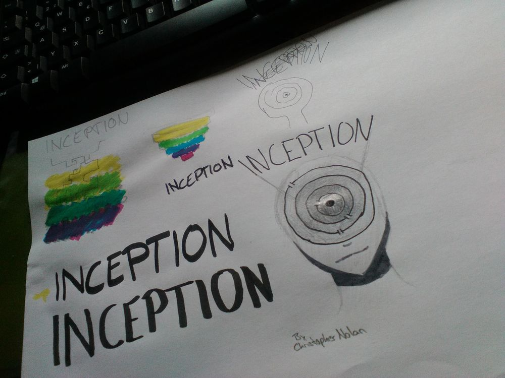 Inception Film Poster - image 2 - student project