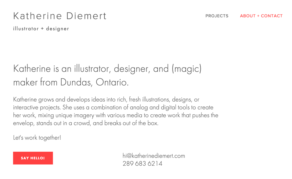 Hi! I'm Katherine, an illustrator + designer - image 2 - student project